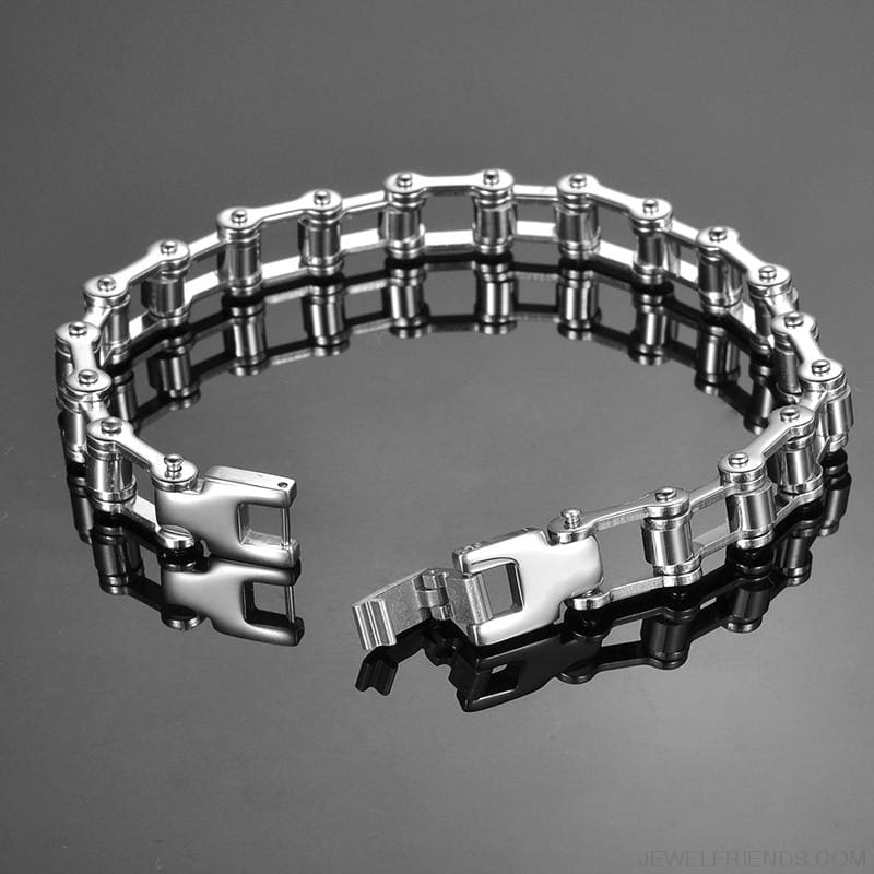Biker Bicycle / Motorcycle Link Chain Cool Bracelet - Custom Made | Free Shipping