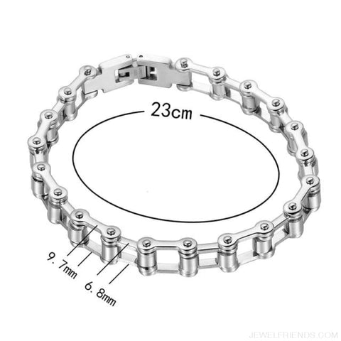 Image of Biker Bicycle / Motorcycle Link Chain Cool Bracelet - Width 9.7Mm - Custom Made | Free Shipping