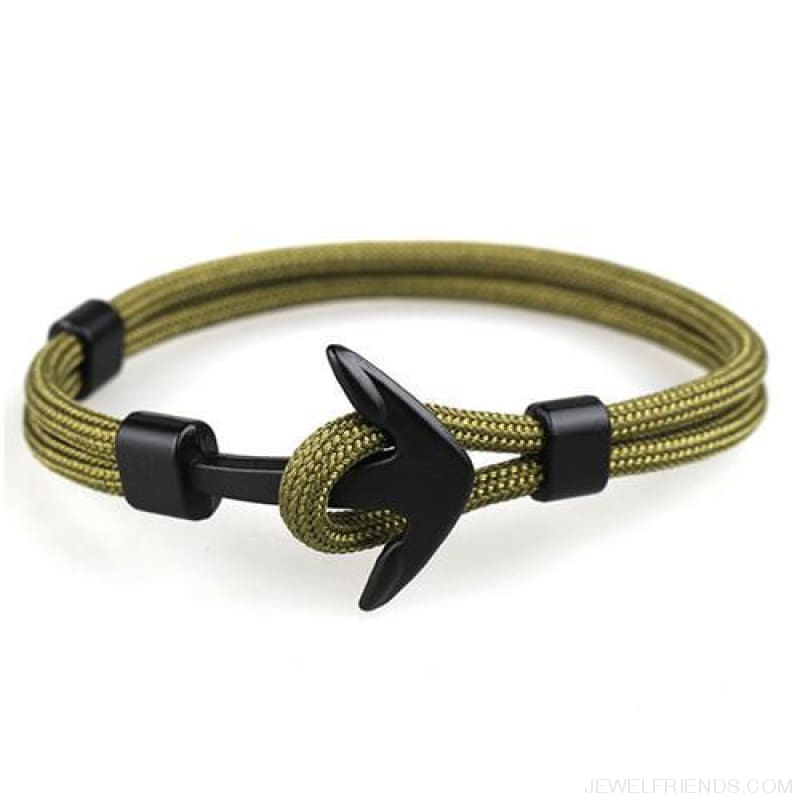 Black Anchor Bracelets - H / 21Cm - Custom Made | Free Shipping