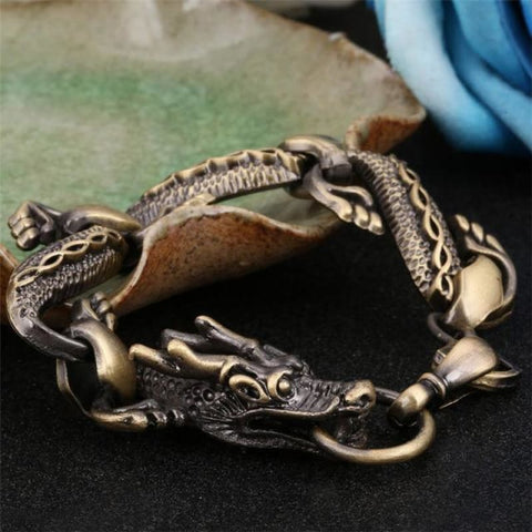 Black Fire Dragon Bracelets - Bronze - Custom Made | Free Shipping