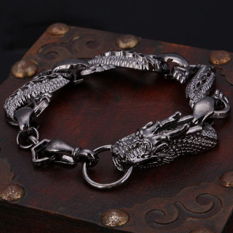 Black Fire Dragon Bracelets - Custom Made | Free Shipping