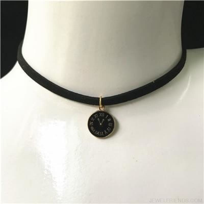 Black Lace Velvet Symbol Pendants Chokers - B56 Black - Custom Made | Free Shipping