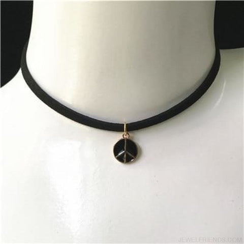 Image of Black Lace Velvet Symbol Pendants Chokers - Hp57 Black - Custom Made | Free Shipping