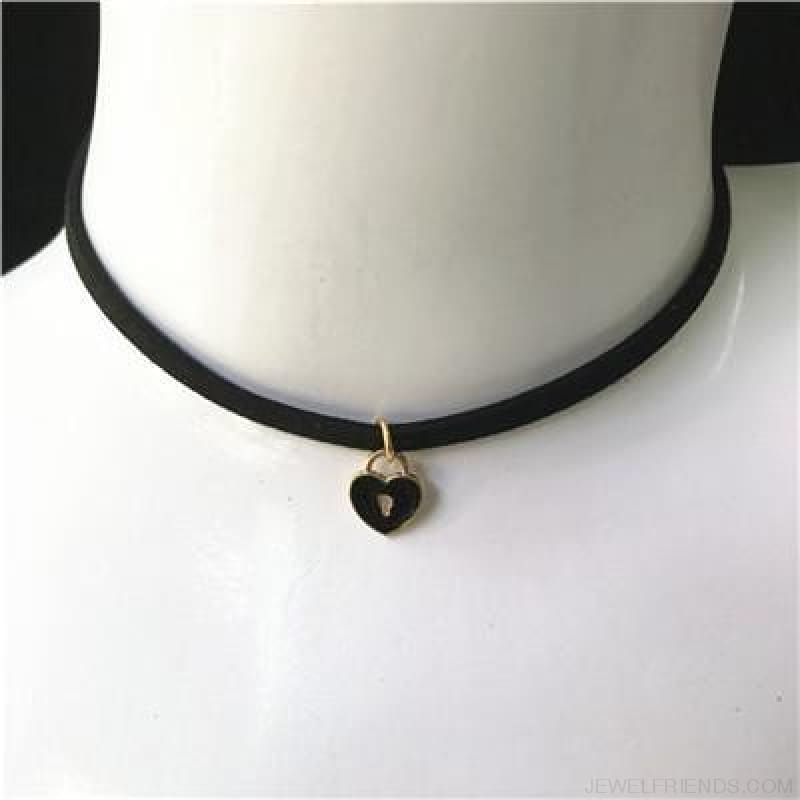 Black Lace Velvet Symbol Pendants Chokers - S52 Black - Custom Made | Free Shipping