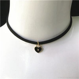 Black Lace Velvet Symbol Pendants Chokers