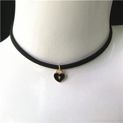 Image of Black Lace Velvet Symbol Pendants Chokers - S52 Black - Custom Made | Free Shipping