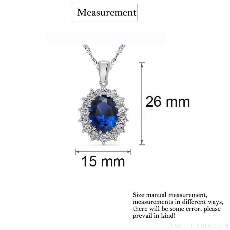 Blue Crystal Stone Wedding Jewelry Sets - Custom Made | Free Shipping