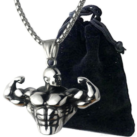 Bodybuilding Muscle Men Necklace - Custom Made | Free Shipping
