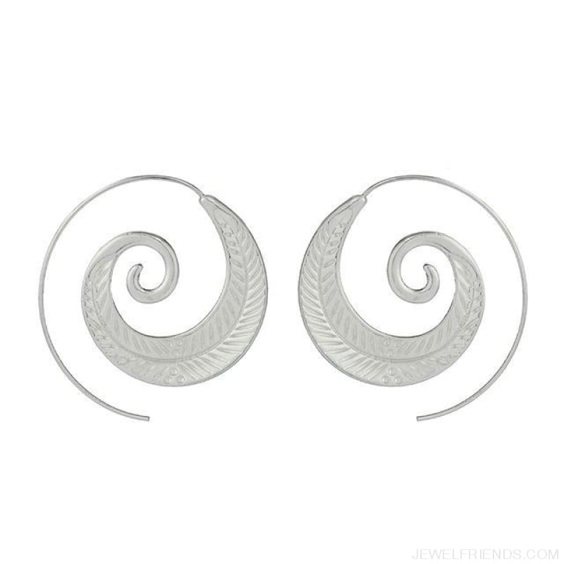 Bohemian Round Spiral Earrings - 10 - Custom Made | Free Shipping