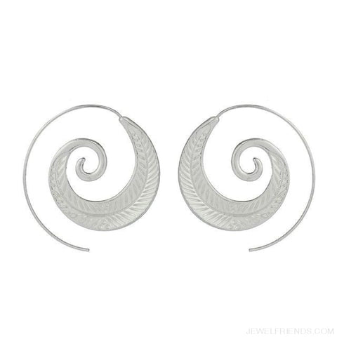 Image of Bohemian Round Spiral Earrings - 10 - Custom Made | Free Shipping