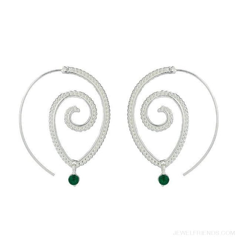 Bohemian Round Spiral Earrings - 6 - Custom Made | Free Shipping