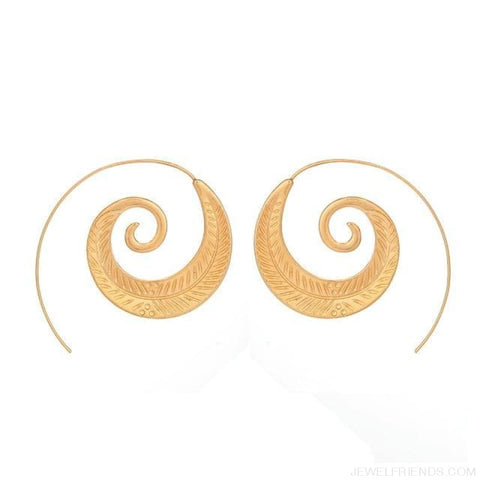 Image of Bohemian Round Spiral Earrings - 9 - Custom Made | Free Shipping