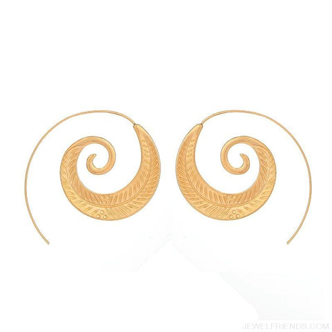 Image of Bohemian Round Spiral Earrings - Custom Made | Free Shipping