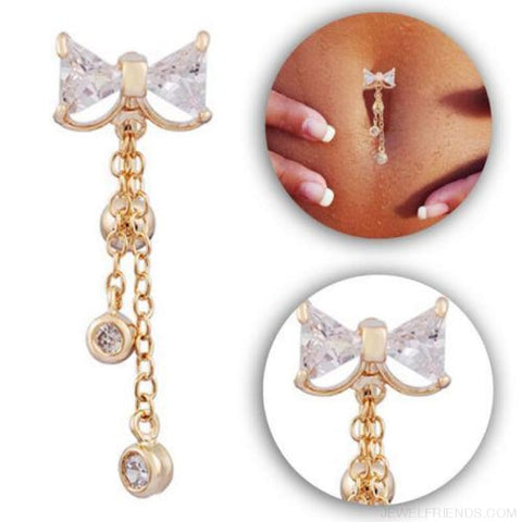 Image of Bowknot Belly Button Rings Stainless Steel - Custom Made | Free Shipping