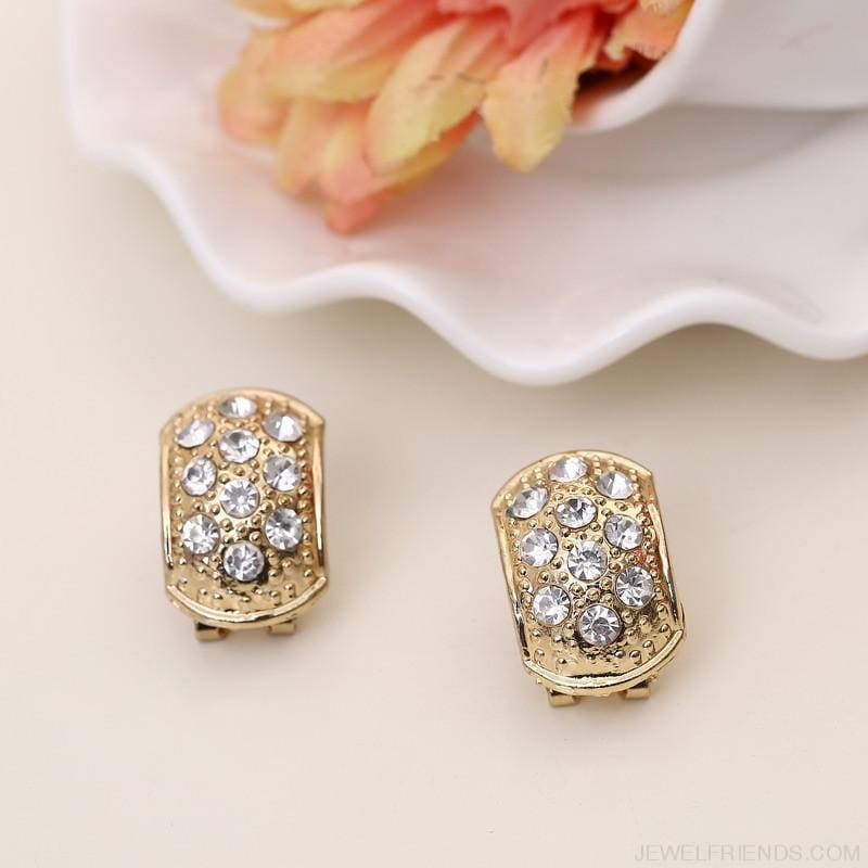 Brides Dubai Gold Crystal Jewelry Sets - Custom Made | Free Shipping