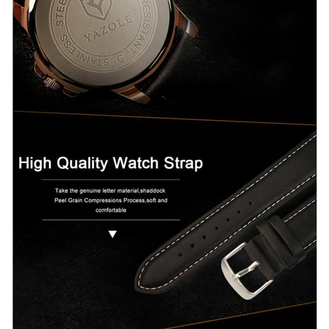 Image of Business Leather Strap Quartz Watches - Custom Made | Free Shipping