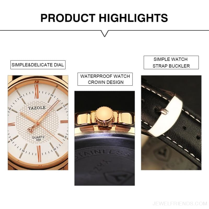 Business Leather Strap Quartz Watches - Custom Made | Free Shipping