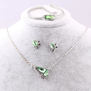 Butterfly Crystal Jewelry Sets