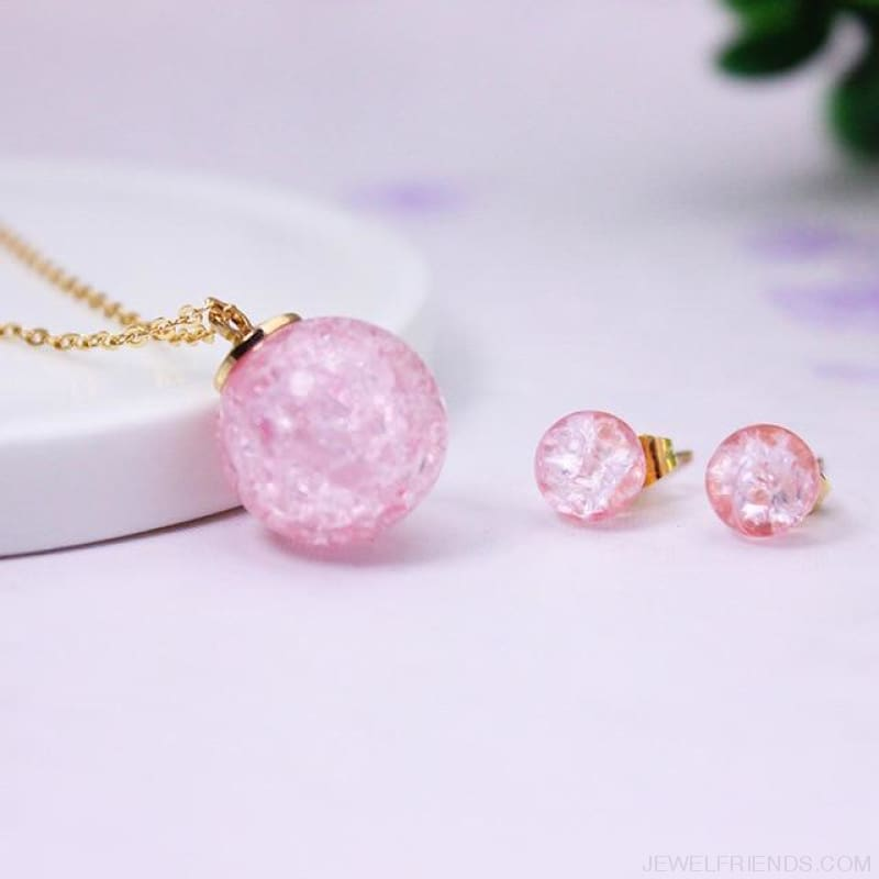 Candy Color Ball Jewerly Set - 3 - Custom Made | Free Shipping