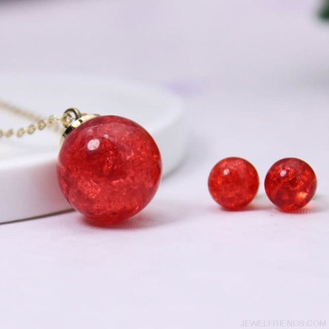 Candy Color Ball Jewerly Set - 4 - Custom Made | Free Shipping