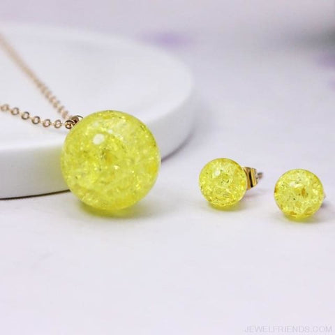 Candy Color Ball Jewerly Set - 8 - Custom Made | Free Shipping