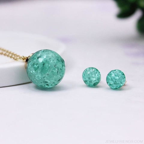 Candy Color Ball Jewerly Set - Custom Made | Free Shipping