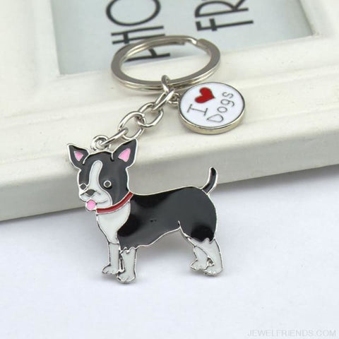 Cartoonish Dog Breed Keychains - 08 - Custom Made | Free Shipping