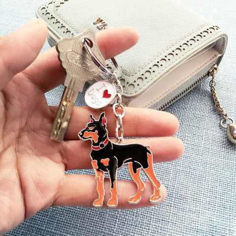 Cartoonish Dog Breed Keychains - Custom Made | Free Shipping