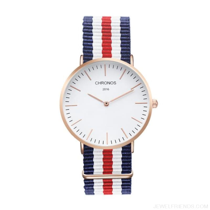Casual Stripe Strap Watches - Ch 0101 - Custom Made | Free Shipping