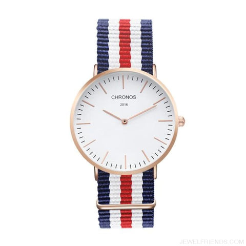 Image of Casual Stripe Strap Watches - Ch 0101 - Custom Made | Free Shipping