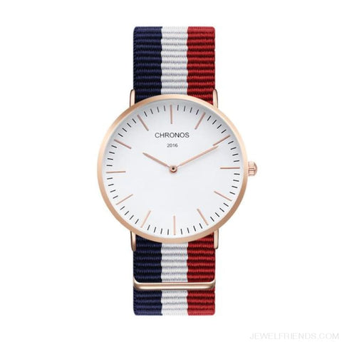 Image of Casual Stripe Strap Watches - Ch 0103 - Custom Made | Free Shipping
