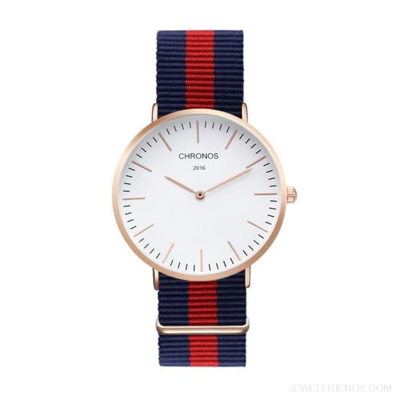 Casual Stripe Strap Watches - Ch 0104 - Custom Made | Free Shipping