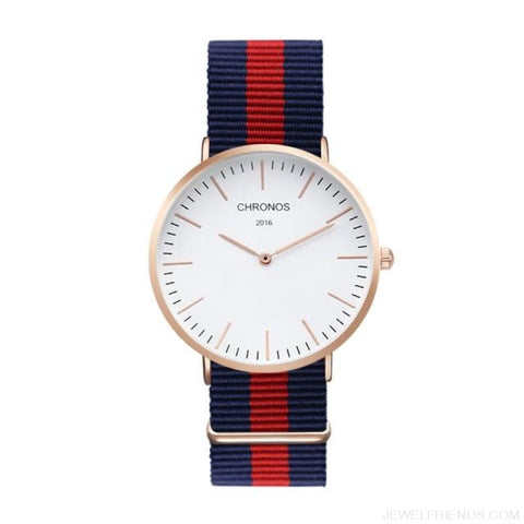 Image of Casual Stripe Strap Watches - Ch 0104 - Custom Made | Free Shipping