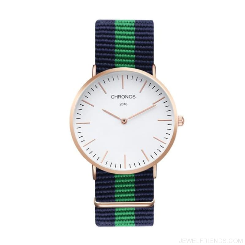 Casual Stripe Strap Watches - Ch 0105 - Custom Made | Free Shipping