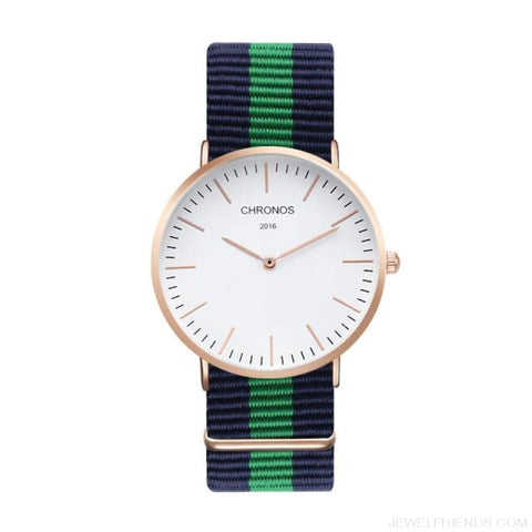 Image of Casual Stripe Strap Watches - Ch 0105 - Custom Made | Free Shipping