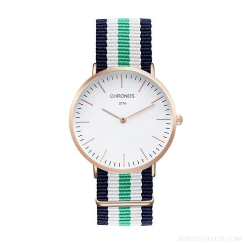 Image of Casual Stripe Strap Watches - Ch 0106 - Custom Made | Free Shipping