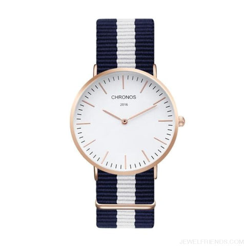 Image of Casual Stripe Strap Watches - Ch 0107 - Custom Made | Free Shipping