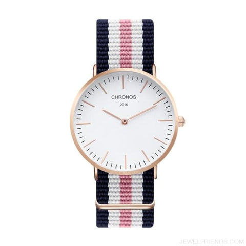 Image of Casual Stripe Strap Watches - Ch 0109 - Custom Made | Free Shipping