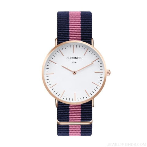 Image of Casual Stripe Strap Watches - Ch 0110 - Custom Made | Free Shipping