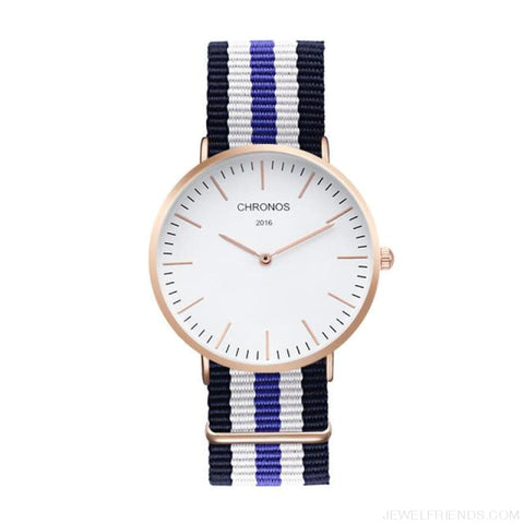 Image of Casual Stripe Strap Watches - Ch 0111 - Custom Made | Free Shipping