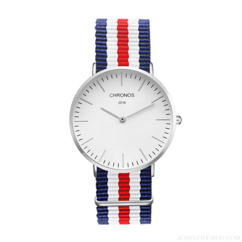 Casual Stripe Strap Watches - Ch 0112 - Custom Made | Free Shipping
