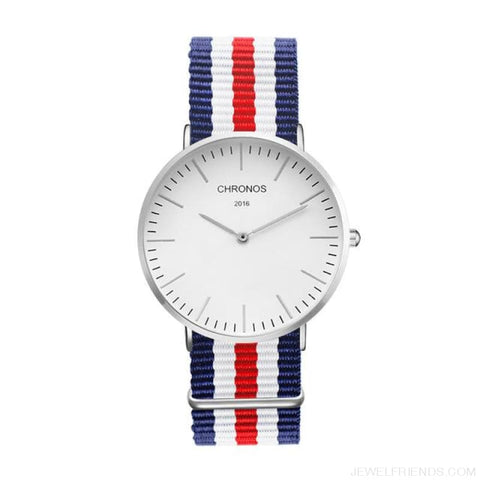 Image of Casual Stripe Strap Watches - Ch 0112 - Custom Made | Free Shipping