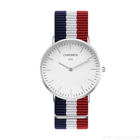 Image of Casual Stripe Strap Watches - Ch 0113 - Custom Made | Free Shipping