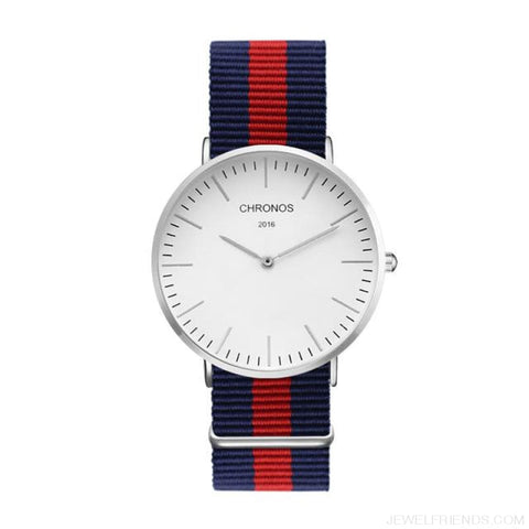 Image of Casual Stripe Strap Watches - Ch 0114 - Custom Made | Free Shipping