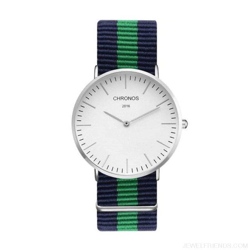 Casual Stripe Strap Watches - Ch 0115 - Custom Made | Free Shipping
