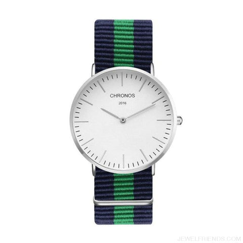 Image of Casual Stripe Strap Watches - Ch 0115 - Custom Made | Free Shipping