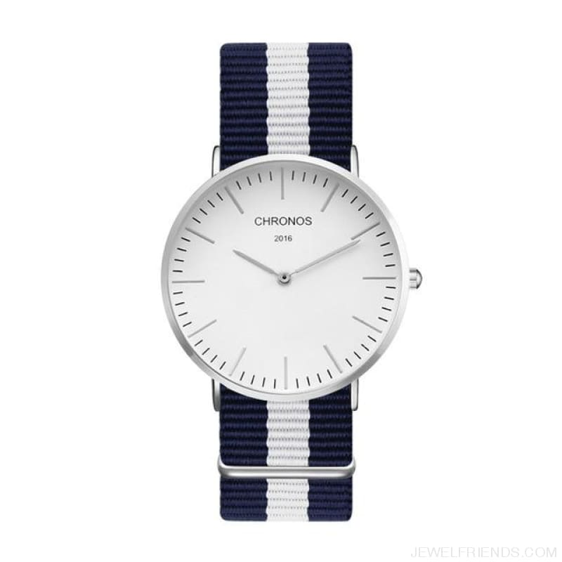 Casual Stripe Strap Watches - Ch 0116 - Custom Made | Free Shipping