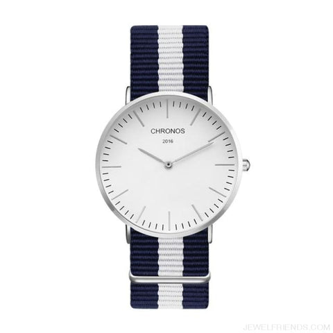 Image of Casual Stripe Strap Watches - Ch 0116 - Custom Made | Free Shipping