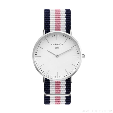 Image of Casual Stripe Strap Watches - Ch 0117 - Custom Made | Free Shipping