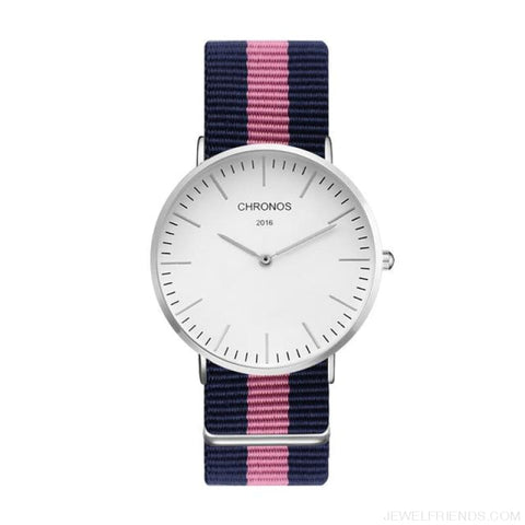 Image of Casual Stripe Strap Watches - Ch 0118 - Custom Made | Free Shipping